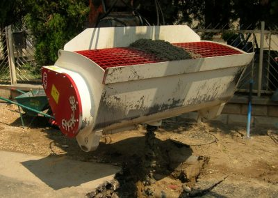 Betono maisykle kausu CMIX ispilamas betonas