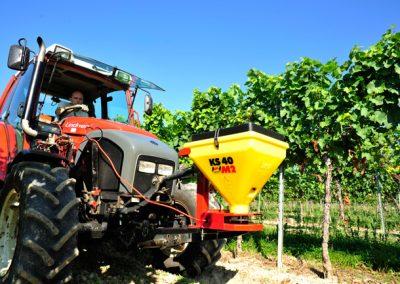 Elektrinė žolės sėklų sėjamoji KS40 darbui soduose