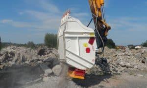 Kaušas trupintuvas smulkintuvas CBF betonui ir statybinėms atliekoms