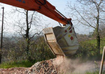 Kaušas trupintuvas smulkintuvas CBF trupinti betonui, akmenims, gruntui