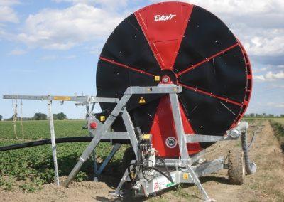 Automatinio laistymo mašina ORMApiogg EVENT bulvių lauke