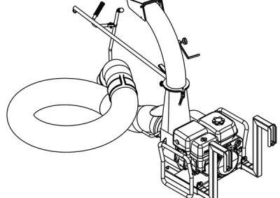 Lapų vakuuminis siurblys JUMBO aplinkos tvarkymo įmonėms