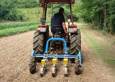 Modulinė tikslaus sėjimo daržovių sėklų sėjamoji SP 2002 - sėjimas trijų vagų