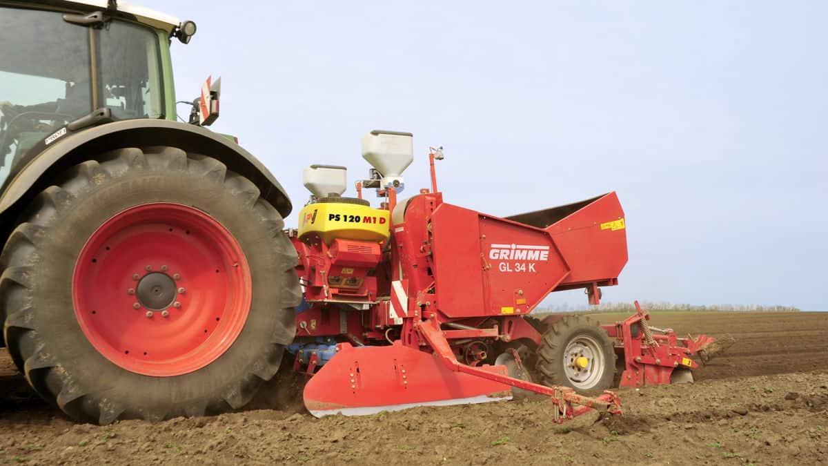 PS 120 M1 elektrinė pneumatinė sėjamoji pakabinta bulvių sodinamosios