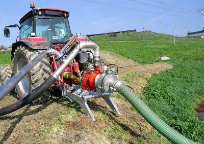 Siurblys AFI prie traktoriaus
