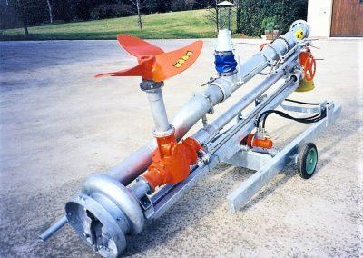 Srutu siurblys Ultra varomas su kardaniniu velenu prie traktoriaus