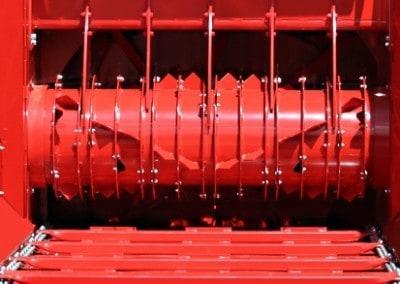 Didelio diametro kryzminio musimo bugnas rotorius