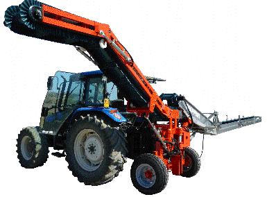 darzoviu derliaus nuemimo transporteris NU940 pakrovimui i priekaba
