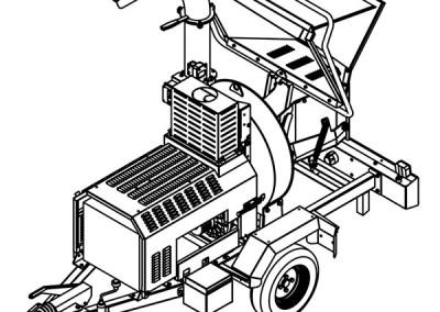 Šakų smulkintuvas BIO 235 tinka parkų priežiūrai