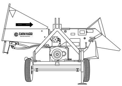 Šakų smulkintuvas BIO 400 komunaliniam ūkiui