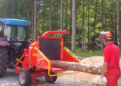 Šakų smulkintuvas kapoklė CIPPO 25 kabinamas prie traktoriaus