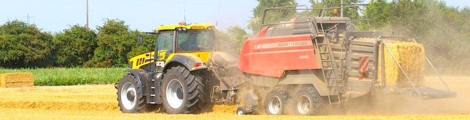 Stačiakampių ryšulių presavimas su Heston (Massey Ferguson) presais